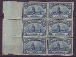 1929-22 CUBA 1929 Ed.236 5c CAPITOL CAPITOLIO NACIONAL BLOCK 6 MNH - Kuba