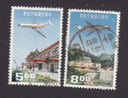 China, Scott #C76-C77, Used, Planes Over Taiwan, Issued 1967 - 1945-... Republiek China