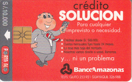 ECUADOR - Banco Amazonas(grey Band), Chip GEM1, Used - Ecuador