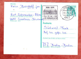 Ganzsache, MS Neues Postamt In Der Alten Kommandantur Saarlouis UB: A, 1978 (79727) - BRD