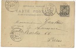PARIS 60 DISTRIBon Sur ENTIER SAGE, ALGER, Algérie. PEU COMMUN - 1877-1920: Période Semi Moderne