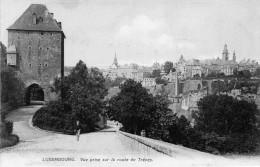 Cpa LUXEMBOURG, Vue Prise Sur La Route De Trèves  (47.40) - Luxembourg - Ville