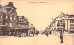 CAMBRAI 59 - Rue De Lille ( Agence BANQUE CAMBRESIENNE Et Café Hotel FRANCAIS ) - CPA -  Nord - Cambrai