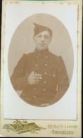 Photo Foto Hard Karton Carton - Soldaat Soldat - Photographe Fotograaf E. Hermes Bruxelles - Guerre, Militaire