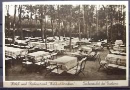 """Alte Karte """"TIEFENSEE Oberbarnim - Hotel Restaurant """"Waldschlößchen"""" Gartenansicht"""" 1933 - Werneuchen"""
