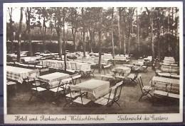"""Alte Karte """"TIEFENSEE Oberbarnim - Hotel Restaurant """"Waldschlößchen"""" Gartenansicht"""" 1932 - Werneuchen"""