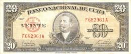 BILLETE DE CUBA DE 20 PESOS  DEL AÑO 1949    (BANKNOTE-BANK NOTE) - Cuba