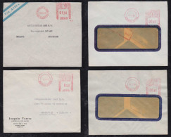 Argentina 1950-55 4 Airmail Meter Cover To Netherlands - Argentina