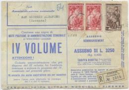 1953 ITALIA AL LAVORO L. 35 COPPIA + L. 6 SU FRONTE STAMPE CONTRASSEGNO IN TARIFFA RIDOTTA EDITORI 2.5.53  (FR16) - 6. 1946-.. Repubblica