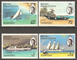 British Indian Ocean Territory / BIOT 1969 Mi# 32-35 * MH - Ships Of The Islands - British Indian Ocean Territory (BIOT)