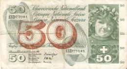BILLETE DE SUIZA DE 50 FRANCS DEL AÑO 1961 (BANKNOTE) - Suiza