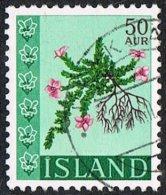 Iceland SG446 1968 Wild Flowers 50a Good/fine Used - 1944-... Republik