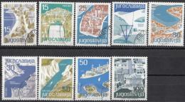 Joegoslavië - Jugoslawische Touristenorte/Joegoslavische Toeristenoorden - Gebruikt/gebraucht/used - M 994-1002 - Vakantie & Toerisme