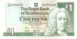 BILLETE DE ESCOCIA DE 1 POUND DEL AÑO 1989  (BANKNOTE) - [ 3] Escocia