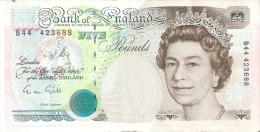 BILLETE DE REINO UNIDO DE 5 POUNDS DEL AÑO 1990 CALIDAD EBC (XF) (BANK NOTE) - 1952-… : Elizabeth II