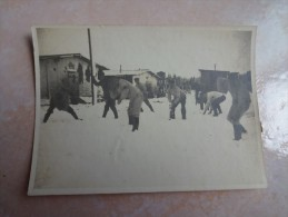 Petite Photo Camp De Prisionniers Lazarett Flenburg Weiche - 29 Decembre 1915 - Allemagne