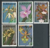 BL1-135 REP SURINAM 1976 ZBL 12-16 ORCHIDS, FLOWERS, FLEURS, FLORES, FIORI, BLUMEN. MNH, POSTFRIS, NEUF**. - Orchidées