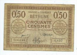 Billet Chambre De Commerce De Béthune 0,50 Francs - Camera Di Commercio