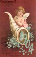 BELLE CPA GAUFFREE :  BONNE-ANNEE 1904 ANGE ANGELOT FLEURS FANTAISIE 1900 - Neujahr