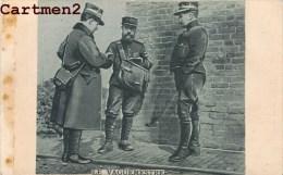 BELLE CPA COLLAGE : LE VAGUEMESTRE POSTE MILITAIRE FRANCHISE MILITAIRE AU DOS GUERRE FACTEUR - Oorlog 1914-18