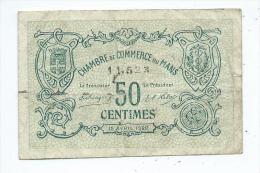 Chambre De Commerce Du Mans 50 Centimes - Chambre De Commerce