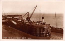 "02237 ""PIER HEAD AND FERRY BOAT, HULL"" ANIMATA.  CART.  NON SPED. - Hull"