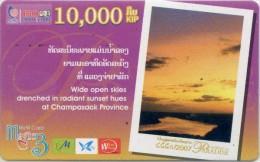 Mobilecard Laos - Landschaft,landscape - Sunrise,Sonnenaufgang  ( 3 ) - Laos