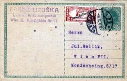 DEUTSCH-ÖSTERREICH 1919 - 8 Heller Ganzsache + 2 H K.k. Eilpostmarke Auf Pk Gelaufen - 1918-1945 1. Republik