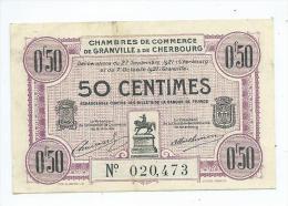 Chambre De Commerce De Granville Et Cherbourg  0,50 Franc - Handelskammer