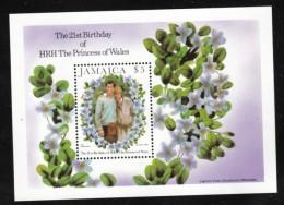 Jamaica Sc#538 Princess Diana 21st Birthday $5 Souvenir Sheet Issued 1 September 1982 - Jamaica (1962-...)