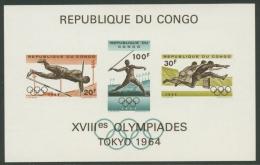 Kongo (Kinshasa) 1964 Olympiade Tokio Block 5 Postfrisch (G20315) - Dem. Republik Kongo (1964-71)