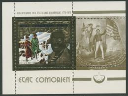 Komoren 1976 200 Jahre USA Block 18 A Postfrisch (C24330) - Komoren (1975-...)