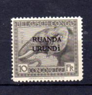 Vloors Surchargé, éléphant, N° 51**, Cote 95 €, - Ruanda-Urundi