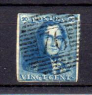 Léopold I, 20c Avec Voisin, Oblitération 76 ( Leuven), Cote 65 € - 1849 Schulterklappen