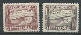 150022532  CHECOSLOVAQUIA   YVERT    Nº  548/9  */MH - Tchécoslovaquie