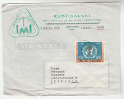 1960s Air Mail PORTUGAL Illus ADVERT COVER  Stamps UN WHO Health  To Germany United Nations - 1910-... Republic