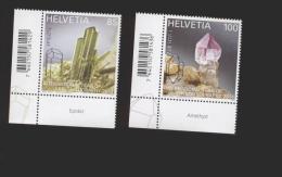 Schweiz  ** 2334-2335  Kristalle  Neuheiten März 2014 - Schweiz
