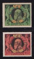 GERMANY, BAYERN, 1911, Hinged Unused Stamp(s) Luitpold, MI 92-93  #16 019, - Bavaria