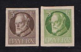 GERMANY, BAYERN, 1916, Hinged Unused Stamp(s) Ludwig III, MI 110=115,  #16 068,  (2 Values Only) - Bavaria