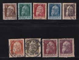 GERMANY, BAYERN, 1911,  Used Stamp(s) Luitpold  MI 76=86,  #16 013,  (9 Values On Ly) - Bavaria