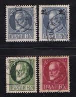 GERMANY, BAYERN, 1916,  Used Stamp(s) Ludwig III,  MI 110=115,  #16 066,   4 Values Only - Bavaria