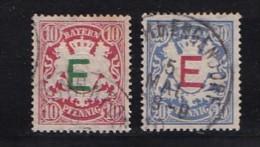 """GERMANY, BAYERN, 1908,  Used Stamp(s) Dienstmarke , Ë,  MI """"D1=D5,  #16 071,  2 Values Only - Bavaria"""