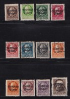 GERMANY, BAYERN, 1919,  Used Stamp(s) Ludwig III ,  MI 116=128,  #16 100  12 Values Only - Bavaria