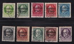 GERMANY, BAYERN, 1919,  Used Stamp(s) Ludwig III ,  MI 116=128,  #16 105  10 Values Only - Bavaria