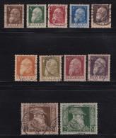 GERMANY, BAYERN, 1911,  Used Stamp(s) , Luitpold, Type I,  MI 76=87,  #16 134  11 Values Only - Bavaria