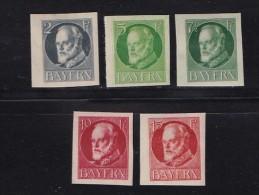 GERMANY, BAYERN, 1916,  Used Stamp(s) , Ludwig III, Perforated,  MI 110-115  #16 161 - Bavaria