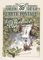 "ILLUSTRATEUR CROSA  35 ÈME SALON DE BRIGNOLES "" LA PROVENCE VERTE "" - Collector Fairs & Bourses"
