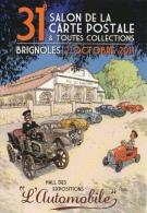 """ILLUSTRATEUR CROSA  31 ÈME SALON DE BRIGNOLES """" LES VOITURES  """" L'AUTOMOBILE - Collector Fairs & Bourses"""