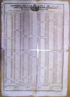 BON101 CUBA ESPAÑA SPAIN ANTILLES LOTTERY LARGE POSTER 1869 #826 43x62cm. - Lottery Tickets