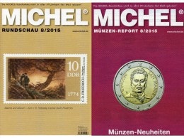 Briefmarken MICHEL Rundschau 8/2015 Neu 6€ New Stamps+coins World Catalogue And Magacine Of Germany ISBN 9 783954 025503 - Boeken, Tijdschriften, Stripverhalen